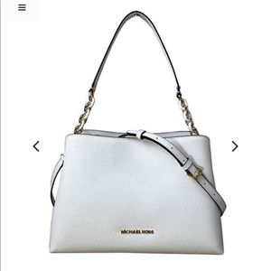 Michael kors Sofia satchel leather optic white col